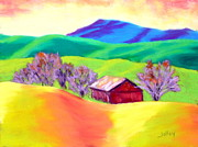 Red Hill Barn Print by Nancy Jolley