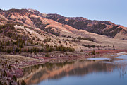 Bridger Teton Framed Prints - Red Hills Above Slide Lake Framed Print by Mike Cavaroc