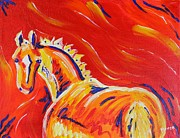 Dressage Horse Originals - Red Horse by Amanda Pierce