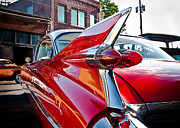 Squint Photography Framed Prints - Red Hot Cadillac Framed Print by Sonja Quintero