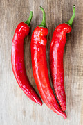 Hot Peppers Framed Prints - Red Hot Chili Peppers Framed Print by Edward Fielding