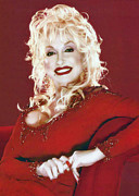 Dolly Parton Prints - Red Hot Dolly Print by Brian Graybill