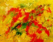 Abstract Expressionism Paintings - Red Hot Horse Go Running by Carol Suzanne Niebuhr