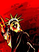 Liberty Island Digital Art - Red Hot Liberty by Andy Heavens