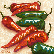 Red Hot Chili Peppers Paintings - Red Hot Too by Vikki Wicks
