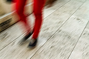 Action Lines Photos - Red Hot Walking by Karol  Livote