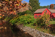 Manchester Vermont Prints - Red House by the River Print by Charles Kozierok