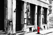 Quebec Photographer Prints - Red Hydrant Print by John Rizzuto