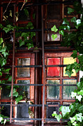 Window Bars Prints - Red in the Window  Print by John Rizzuto