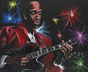 Jazz Painting Originals - Red Jacket Jazz by Lawrence Childress