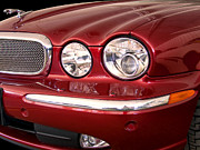 New Car Prints - RED JAGUAR Palm Springs Print by William Dey
