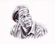 Actor Drawings Prints - Red Print by Jamie Warkentin