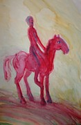 Response Paintings - Red kentaur by Hilde Widerberg
