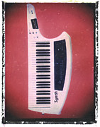 Artful Musician NY - Red Keytar Guitar Art...