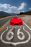 Route 66 Framed Prints - Red Kicks on 66 Framed Print by Peter Tellone
