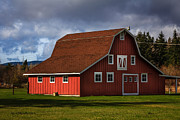 Greeting_card Framed Prints - Red Kirsop Barn - Architecture by Jean OKeeffe Framed Print by Jean OKeeffe