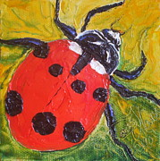 Paris Wyatt Llanso Prints - Red Ladybug Print by Paris Wyatt Llanso