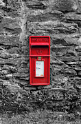Mail Box Prints - Red Letter Box Print by Jobra Photography