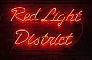 Basement Photo Posters - Red Light District Poster by Kiril Stanchev