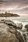 Maine Photo Prints - Red Light Print by Jon Glaser