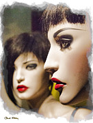 Red Lips Photo Framed Prints - Red Lips Framed Print by Chuck Staley