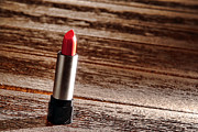 Lip Gloss Prints - Red Lipstick Print by Olivier Le Queinec