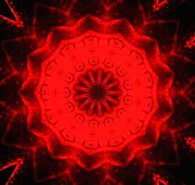 Lisa Brandel - Red lotus mandala of...
