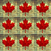 Canadian Digital Art Posters - Red Maple Leaf Poster by Bruce Stanfield