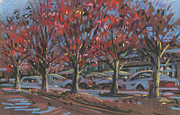 Red Pastels - Red Maples by Donald Maier