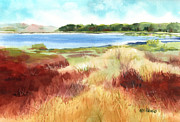 Alligator Painting Prints - Red Marsh Print by Kris Parins
