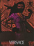 Red Medusa Pop Graffiti Model Print by Edward X