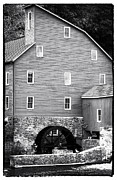 Water Mill Images Prints - Red Mill Print by John Rizzuto