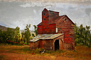 Red Mill Montana Print by Marty Koch
