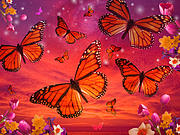 Red Monarch Sunrise Print by Alixandra Mullins