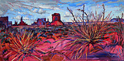 Red Rock Canyon Paintings - Red Monument by Erin Hanson