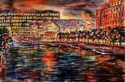 Red Moon Over Berlin II Print by Alfred Motzer