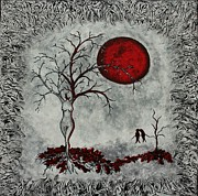 Red Moon Print by Sylvia Sotuyo