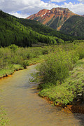 Scene Digital Art - Red Mountain Creek - Colorado  by Mike McGlothlen