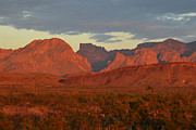 Red Mountains Print by Paul Van Baardwijk