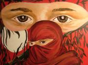 Lorinda Fore Metal Prints - Red Ninja Metal Print by Lorinda Fore