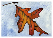 Nora Blansett Paintings - Red Oak Leaf by Nora Blansett