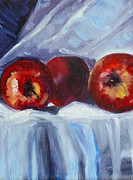 Red On White Print by Nancy Merkle