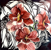 Alfred Ng - red orchid with bee