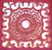 Slavica Koceva - Red ornamental design.