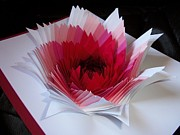 Cut Out Sculptures - Red Paper Flower Inspired by Svetlana Rudakovskaya