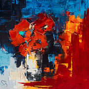 Bouquet Paintings - Red Passion by Elise Palmigiani