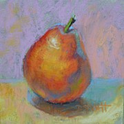 Donna Shortt Painting Posters - Red Pear Poster by Donna Shortt