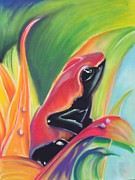 Amphibians Pastels - Red Poison by Justin De Barros
