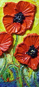 Poppy Gifts Metal Prints - Red Poppies II Metal Print by Paris Wyatt Llanso