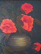 Symbolize Posters - Red Poppies Poster by Kay Novy